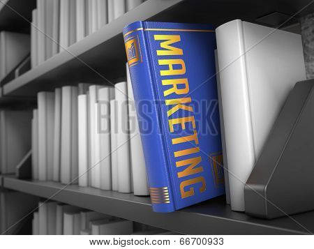 Marketing - Title of Book. Internet Concept.
