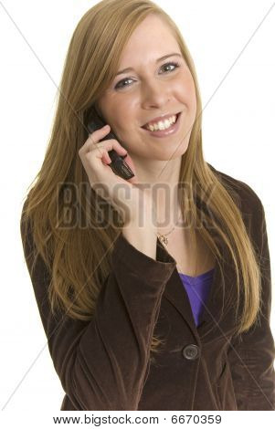 Stunning Young Business Professional Talks On Phone