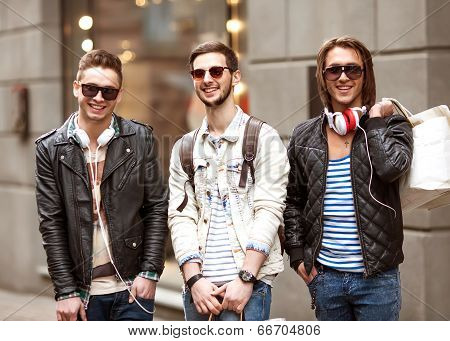 Three Young Male Fashion Metrosexuals