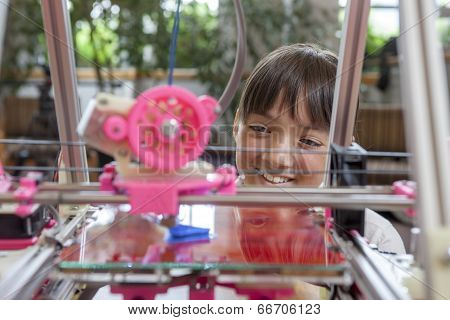 Enjoying The 3D Printer.