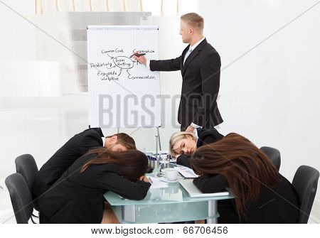 Colleagues Sleeping During Presentation