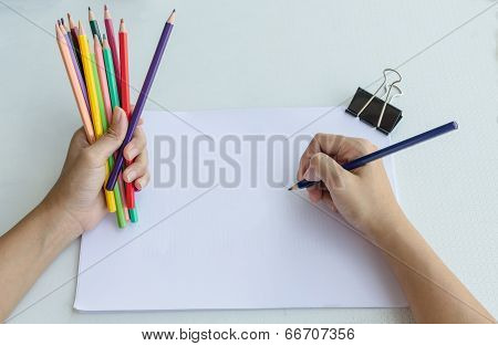 Man Commencing Sketching In A Sketch Book To Show Off His Creativity And Artistic Skills With The Ot