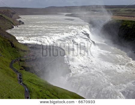 Iceland's Most Famous Waterfall Gullfoss