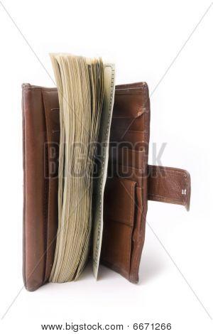 tightly-stuffed purse