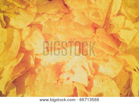 Retro Look Potato Chips Crisps