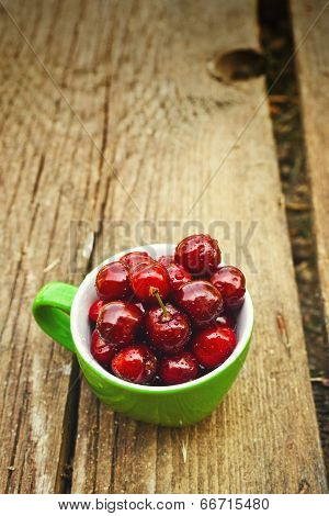 Sweet Cherry In A Bowl