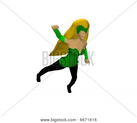 cartoon character female in flight