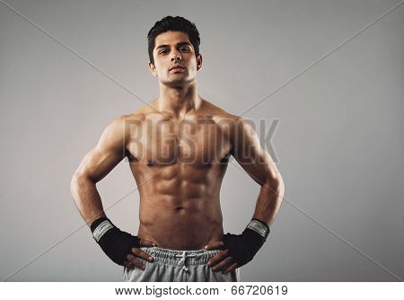 Muscular Young Bodybuilder With An Attitude
