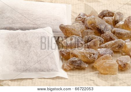 Rock Candy Sugar And Tea Bags
