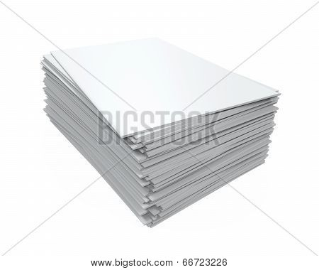 Stack of Blank Magazines