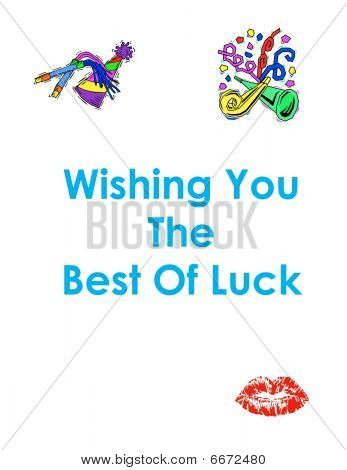 Best Of Luck wishful thinking greeting card