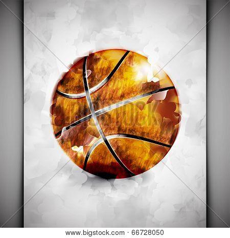 Basketball Ball Watercolor