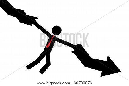 Man hold arrow