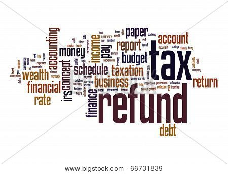 Tax Refund Word Cloud