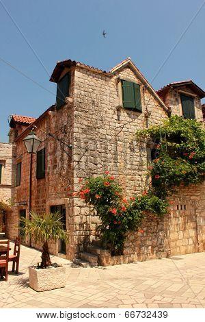 old mediterranean town Stari Grad on Hvar island