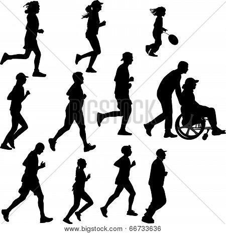 Paraplegic Person As A Runner