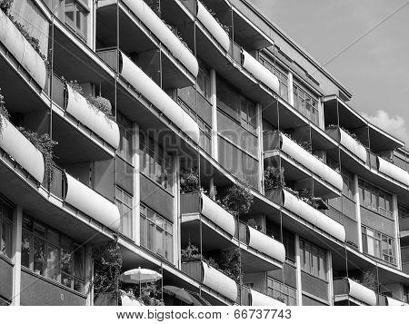 Black And White Hansaviertel In Berlin
