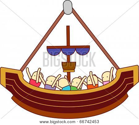 ride the pirate ship at an amusement park