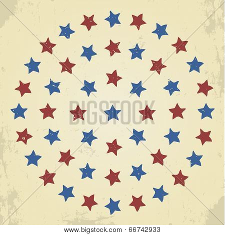 Vintage grunge stars background pattern
