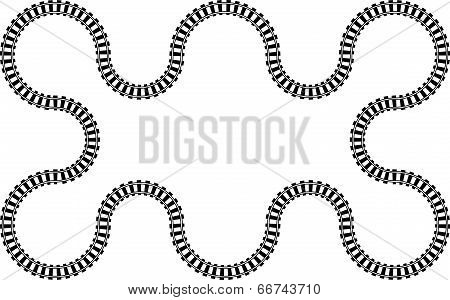 Railroad railway in a continuos wavy abstract pattern