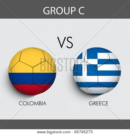 Group C Match Colombia v/s Greece countries