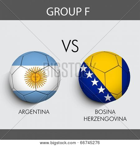 Group F Match Argentina v/s Bosnia countries flags