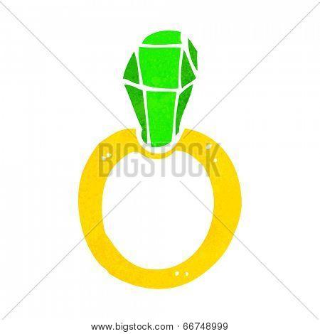 cartoon ruby ring