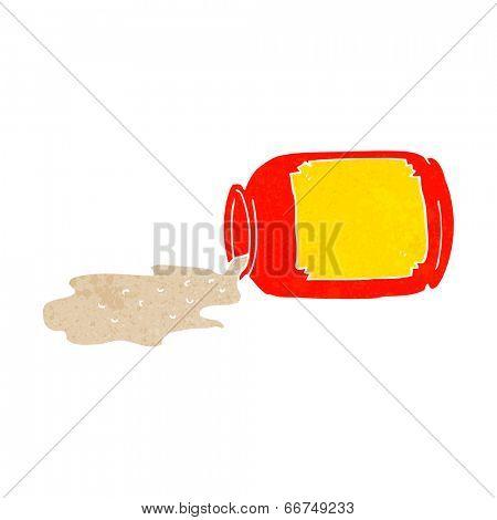 cartoon spilled jar