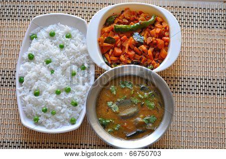 Rice and sambar
