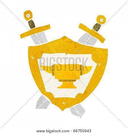 cartoon blacksmith anvil heraldry symbol