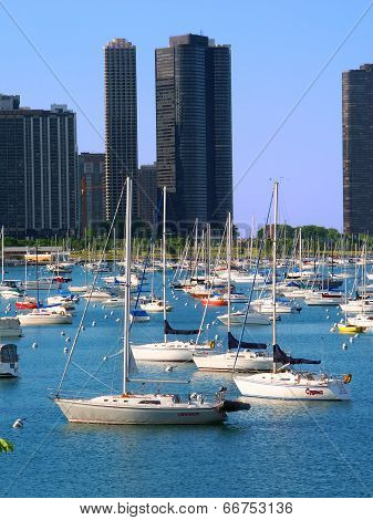 Harbor Point And Lake Michigan