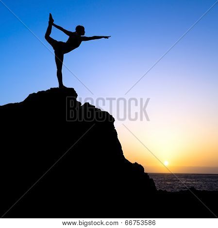 Woman Exercise Yoga Silhouette