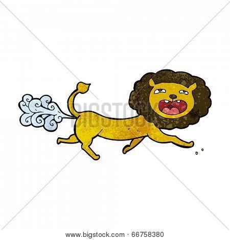 cartoon farting lion