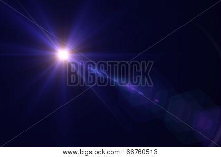 Blue Digital Lens Flare Warm