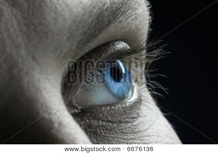 Profile Of Blur Male Blue Eye