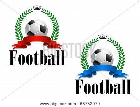 Football emblem or label
