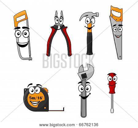 Set of cartoon DIY hand tools