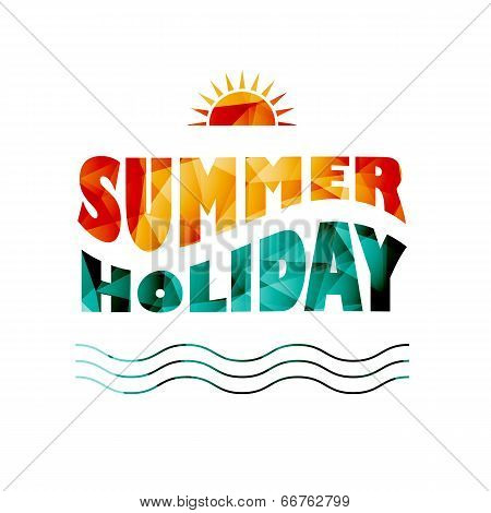 Vector Colored Summer Holiday Text