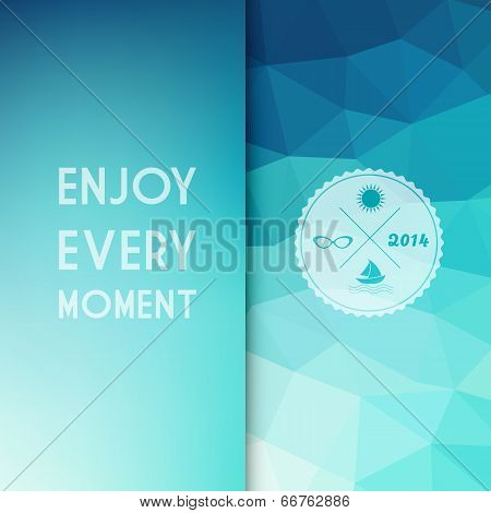 Vector Colored Background With Summer Text