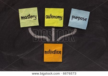 Mastery, Autonomy, Purpose - Motivation