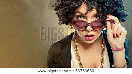 Girl With Afro