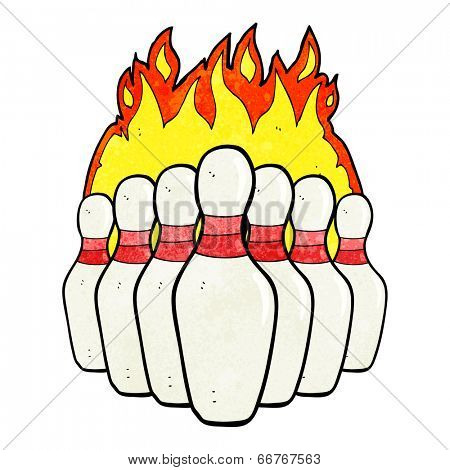 cartoon flaming skittles