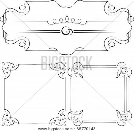 Set Vector Frames For Design