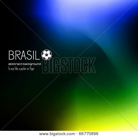 Brasil soccer abstract background for posters, covers or flyers.