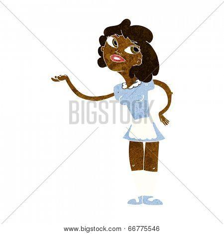 cartoon waitress serving