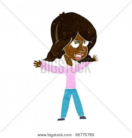 cartoon woman gesturing