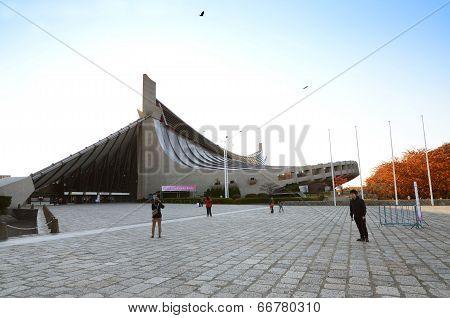 Tokyo,japan - November 20 : People Visit Yoyogi National Gymnasium In Tokyo, Japan