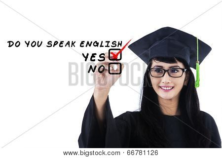 Language Bachelor Writes On Whiteboard 1