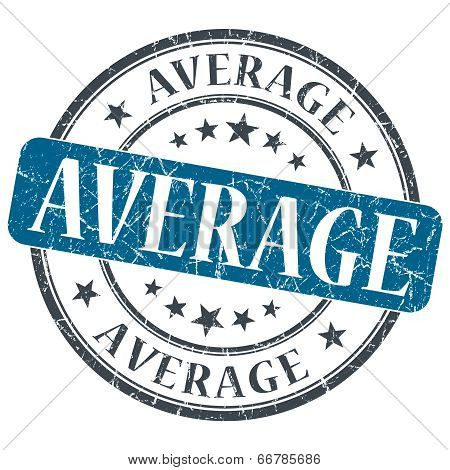 Average Blue Grunge Textured Vintage Isolated Stamp