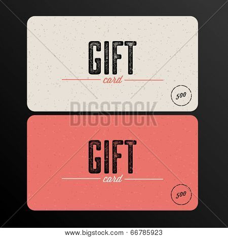 Vector Retro Gift card template
